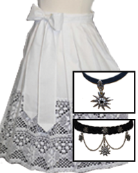 ladies jewelry belts and aprons
