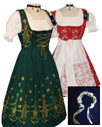 ladies dirndls and accessories