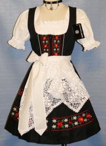 short black dirndl