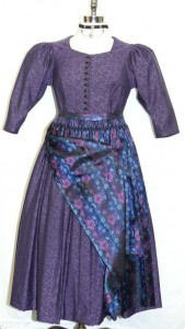 vintage purple dirndl with apron